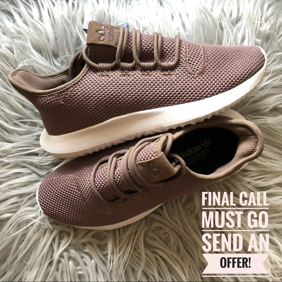 finest selection 3915a d078d NWT Adidas Tubular Shadow Brown White Sneakers 7 NWT